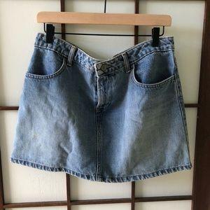 Vintage old navy denim mini skirt sz. 12